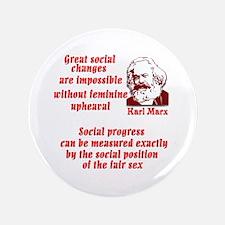 "Karl Marx on Women 3.5"" Button"