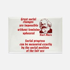 Karl Marx on Women Rectangle Magnet