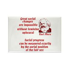 Karl Marx on Women Rectangle Magnet (100 pack)