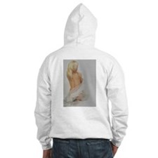 blonde on my back hooded sweat-shirt