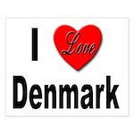 I Love Denmark Small Poster