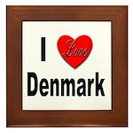 I Love Denmark Framed Tile