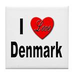 I Love Denmark Tile Coaster