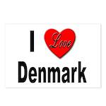 I Love Denmark Postcards (Package of 8)
