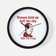 Mao Tse Tung on Women Wall Clock