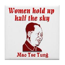 Mao Tse Tung on Women Tile Coaster