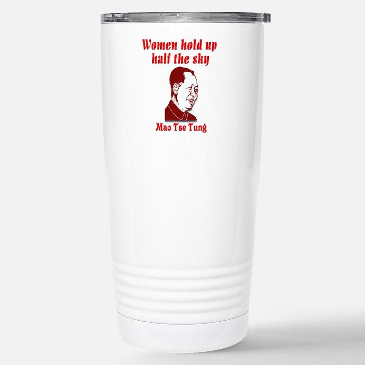 Mao Tse Tung on Women Travel Mug