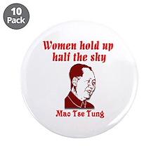 "Mao Tse Tung on Women 3.5"" Button (10 pack)"