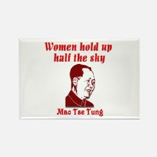Mao Tse Tung on Women Rectangle Magnet (10 pack)