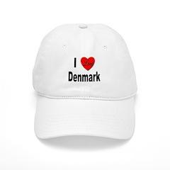I Love Denmark Baseball Cap