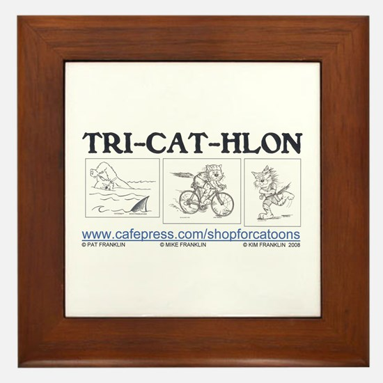 Catoons Framed Tile
