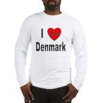 I Love Denmark (Front) Long Sleeve T-Shirt
