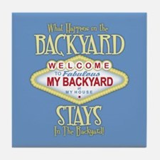My Backyard Tile Coaster