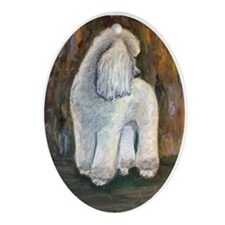 Chloe a Poodle Oval Ornament