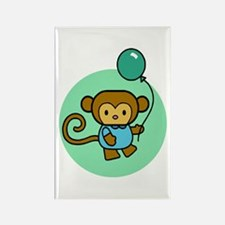Monkey With Balloon Rectangle Magnet (10 pack)