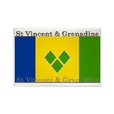 St Vincent & Grenadine Rectangle Magnet