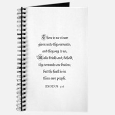EXODUS 5:16 Journal