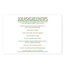 Environmentalist Go Green Tip Postcards (Package o