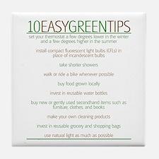 Environmentalist Go Green Tip Tile Coaster