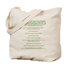 Environmentalist Go Green Tip Tote Bag