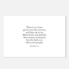 EXODUS  5:16 Postcards (Package of 8)