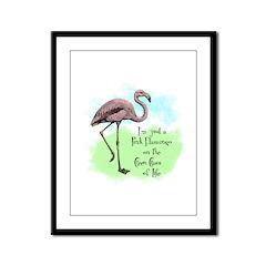 Flamingo Framed Panel Print