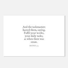EXODUS  5:13 Postcards (Package of 8)