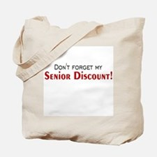 Senior Discount Tote Bag
