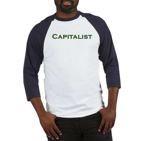 CAPITALIST pro-capitalism green text Baseball Jers