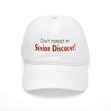 Senior Discount Baseball Cap