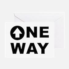 One Way Greeting Card