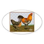 Barnyard Ameraucanas Oval Sticker (10 pk)