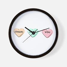 Cthulhu Loves You Wall Clock