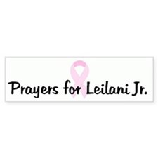 Prayers for Leilani Jr. pink Bumper Bumper Sticker
