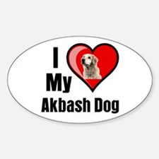 Akbash Dog Oval Decal