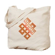 Copper Endless Knot Tote Bag