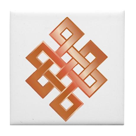 Copper Endless Knot Tile Coaster
