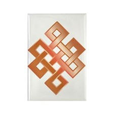 Copper Endless Knot Rectangle Magnet