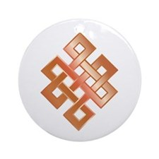 Copper Endless Knot Ornament (Round)