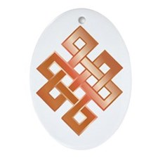 Copper Endless Knot Oval Ornament