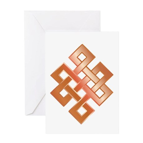 Copper Endless Knot Greeting Card