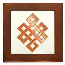 Copper Endless Knot Framed Tile