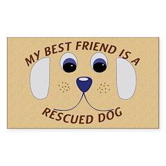 My Best Friend Rectangle Sticker 10 pk)