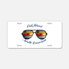 North Carolina - Oak Island Aluminum License Plate