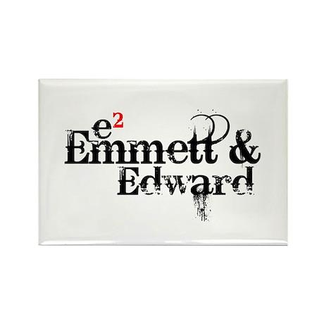 Emmett & Edward Rectangle Magnet