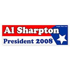 Al Sharpton for President Bumper Sticker