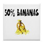 Banana genes theme Tile Coaster