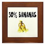 Banana genes theme Framed Tile