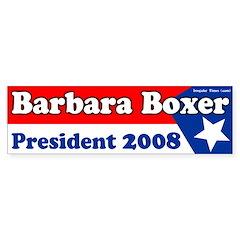 Barbara Boxer 2008 Bumper Bumper Sticker