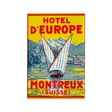 Hotel d'Europe (Montreux) Rectangle Magnet